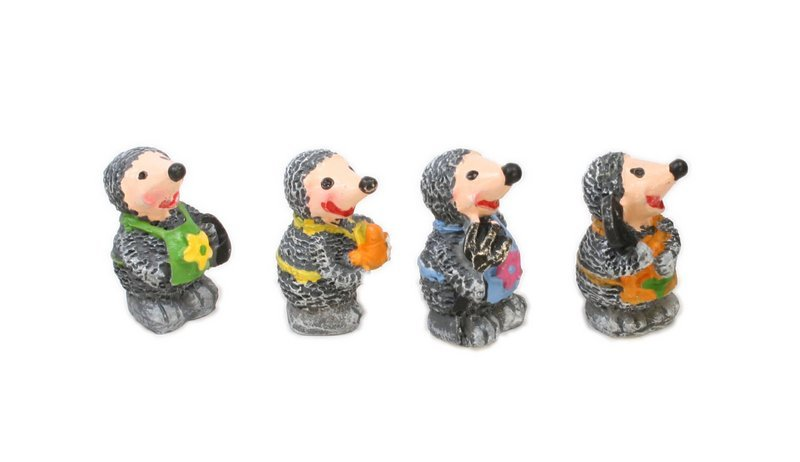 "Mice or Mole Men - 1"" Tall - Set of Four! #800-2616"