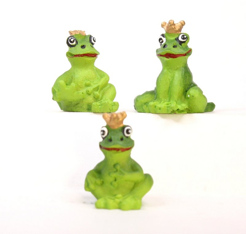 "Frogs - 1"" Mini Royal Frogs - Set of Three! #804-0088"