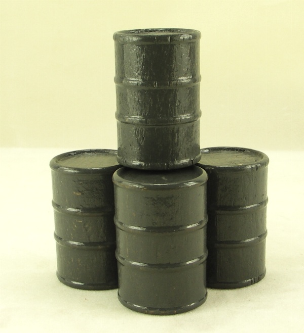 Cargo-To-Go: 8 Large Industrial Oil Barrels - Grey - 101-0804-Gr