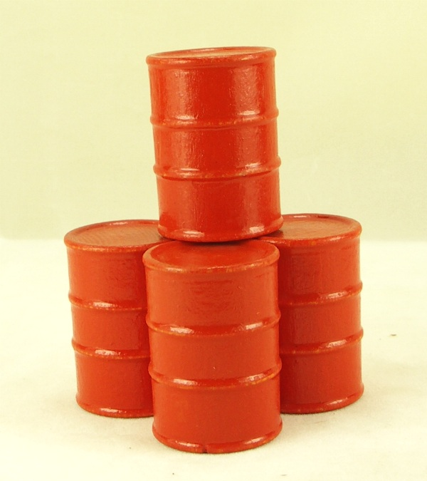 Cargo-To-Go: 8 Large Industrial Oil Barrels - Orange - 101-0804-