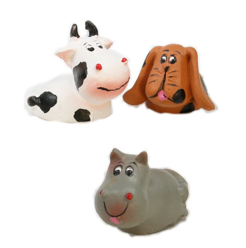 "Dog, Cow, Hippo - 1"" Wacky Animals - 804-3750"