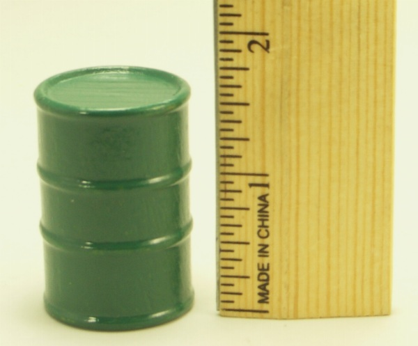 Cargo-To-Go: 8 Large Industrial Oil Barrels - Green - 101-0804-G