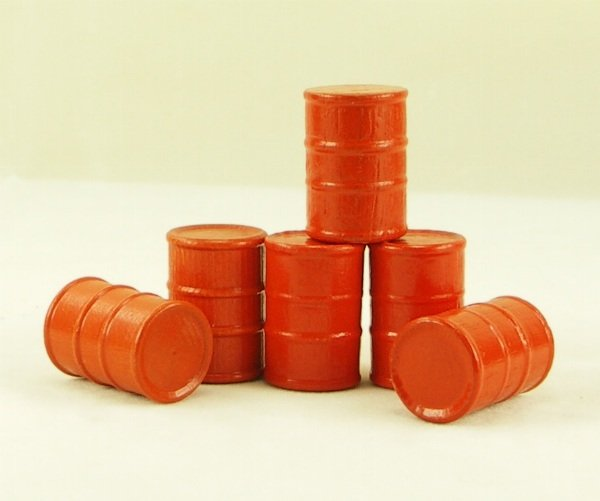 Cargo-To-Go: Six O GA Orange Industrial Oil Barrels - 101-0904or