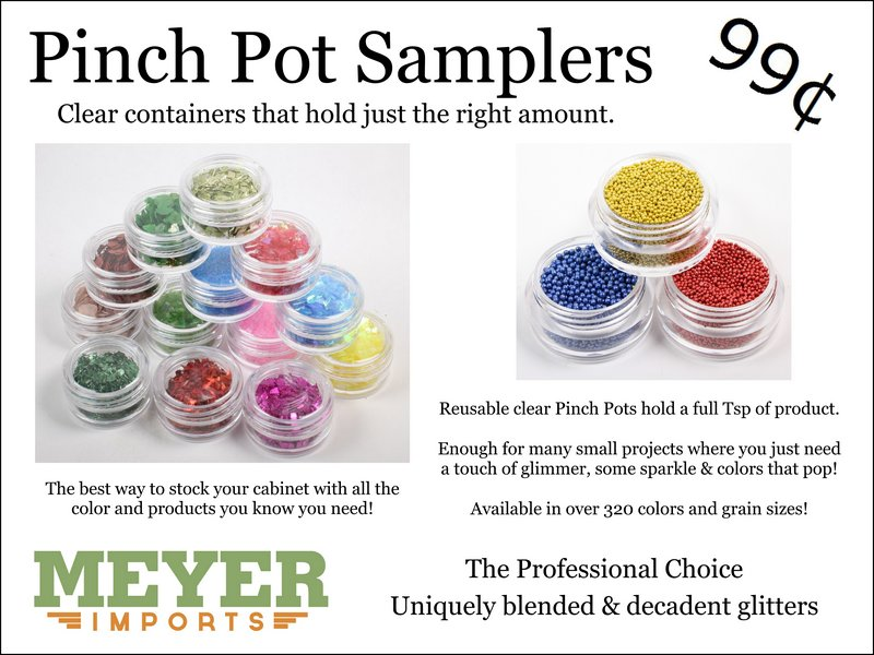 * Pinch Pots - German Glass Glitter (312-2003)