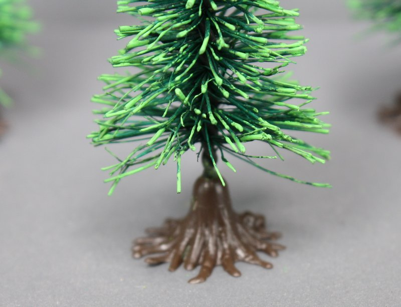 "2.5"" Bottle Brush Trees - German - 4 Piece Set - BB-02"