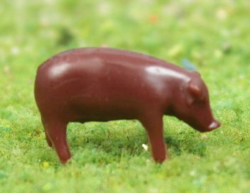 "Pigs - 1/2"" Brown Pigs - Set of 6 - 102-2037"