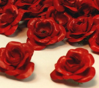 "Red Rose Fabric 5/8"" Flower - 761-1005"
