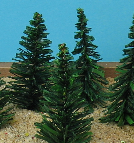 "Evergreen Tree - 2"" - 5 Pcs Set (218-0201)"