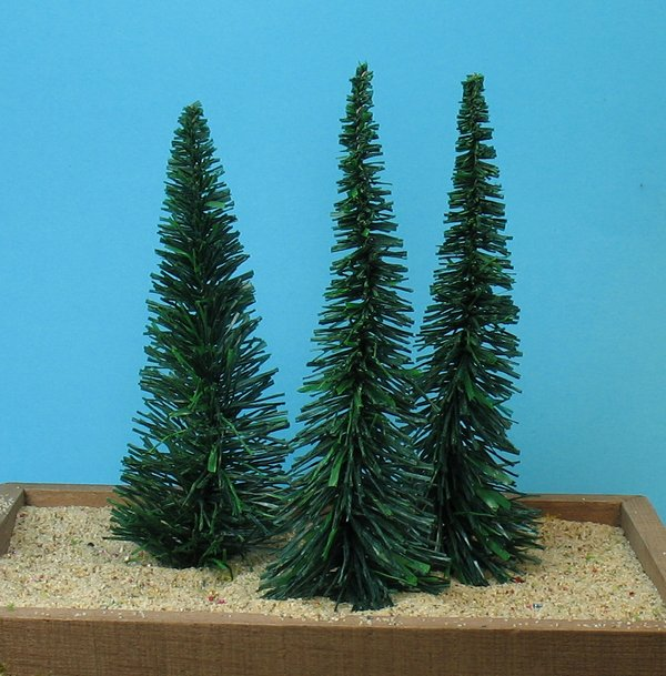 "Evergreen Tree - 4"" - 3 Pcs Set (218-0202)"
