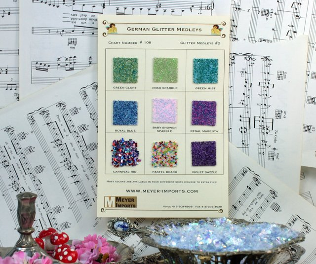 Sample Cards - Glass Glitter Medleys - Cool Blends - #108