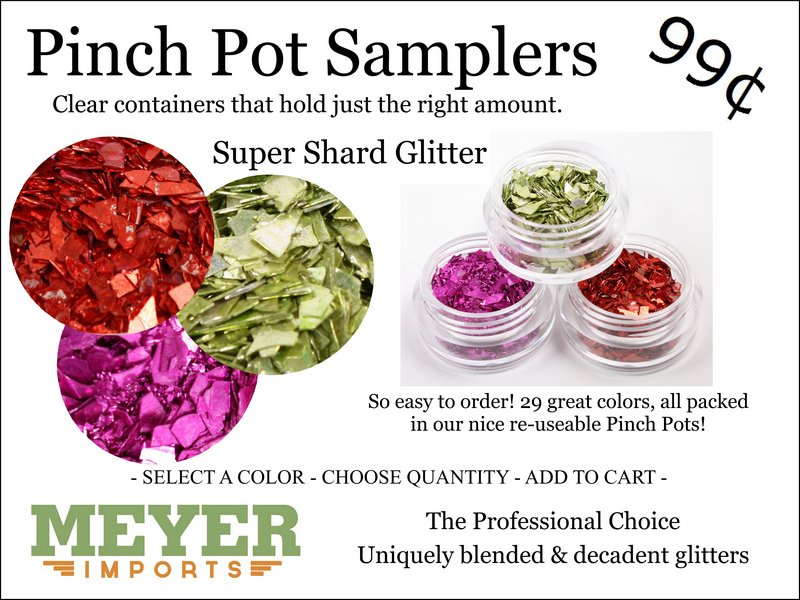 * Pinch Pots - Super Shard Glitter (312-2004)