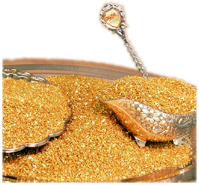 Chunky Gold Glass Glitter -  70 Grit