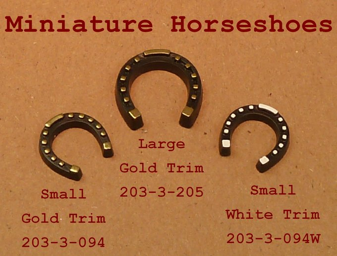 Horseshoe - Large - Gold Leaf Detail - 6 Pieces #203-3-205