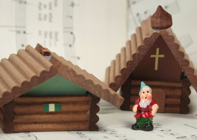 German Christmas Wooden Chapel- 106-039