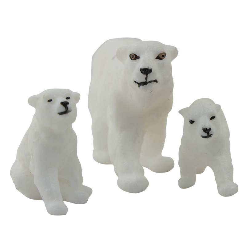 Polar Bear Family - 3 Bears - German Old Stock  IV3-2415