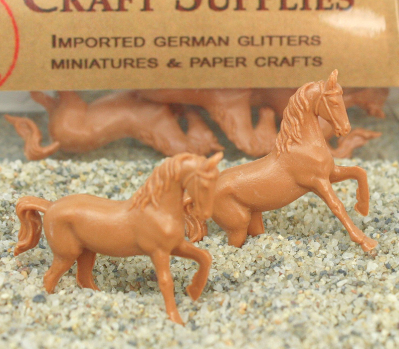 Vintage Mini Horses - German - 3 pcs - IV3-2462 - Set of 6