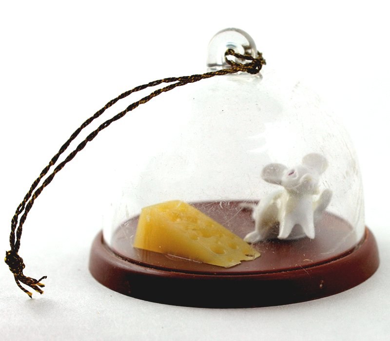 Mouse in the cheese tray - Vintage German - IV3-2490