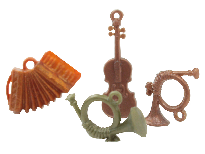 Musical Instrument Charms - German - 50 pcs - IV3-2492