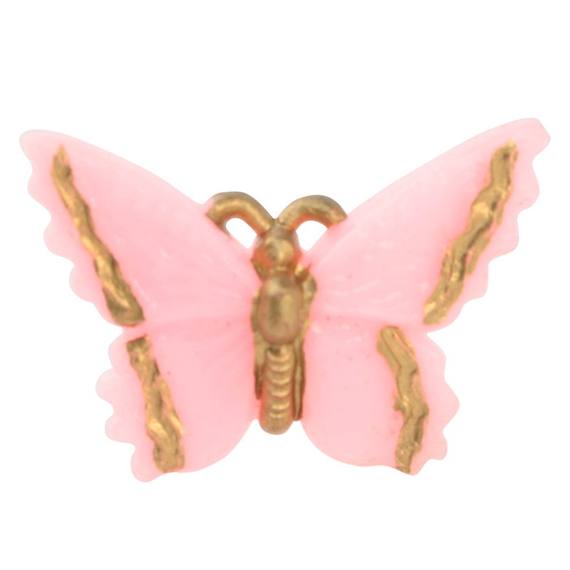 Vintage Little Pink Butterflies - German Imports - IV3-2502