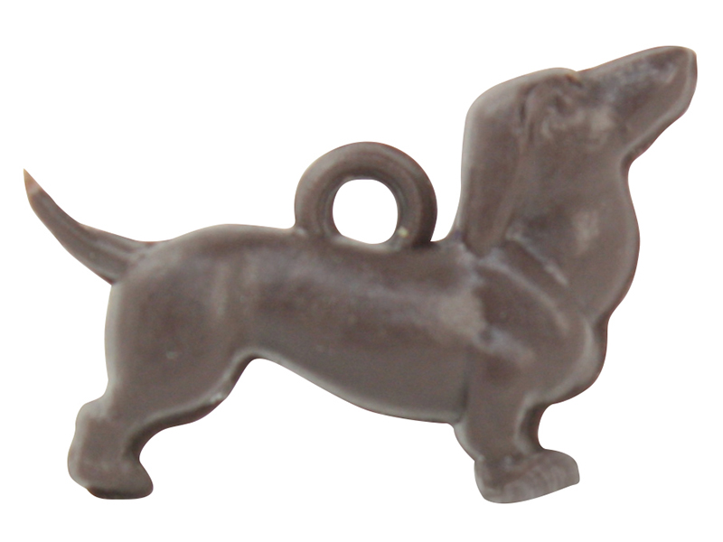 Vintage Tiny Dachshund Charms - Set of 12 - IV3-2520
