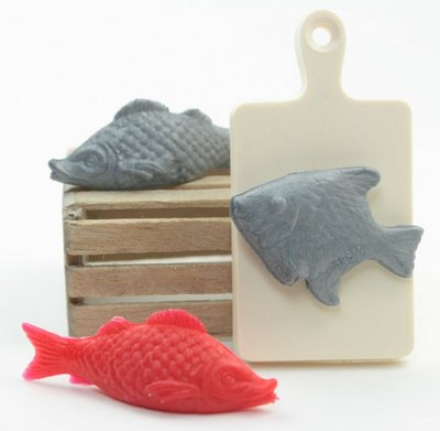 Dollhouse Fish Set with Chopping board - IV3-2550