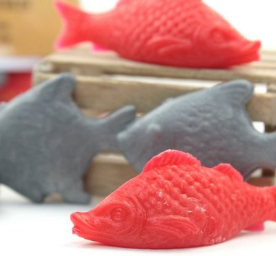 Dollhouse Fish - Mixed Set Red & Gray - 12 Pcs - IV3-2551