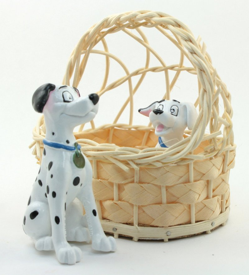 Disney Dalmatian Dogs with Basket - Bullyland - IV3-2552