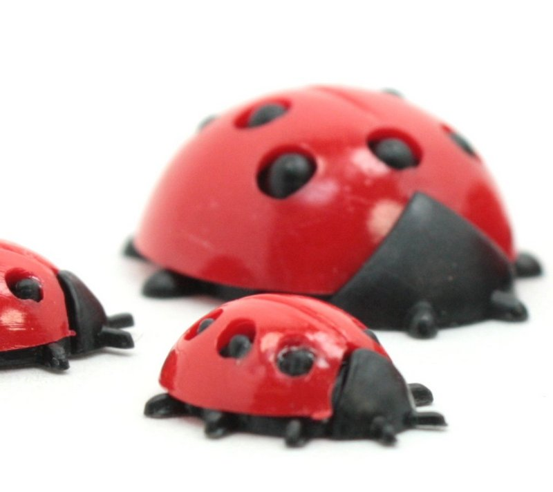 Ladybug Set -  Pop, Mom and Babies - 50 pieces - IV3-2580