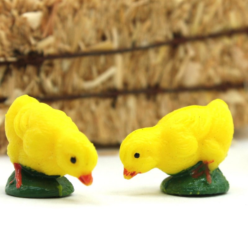 Chicks - Vintage Hand Painted - Set of 8 -  IV3-2582