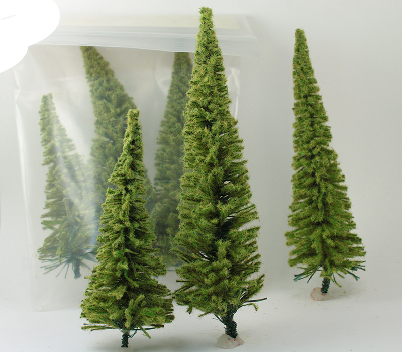 "Bottle Brush Tree -  4 to 6"" Tall  - German - IV3-3506"