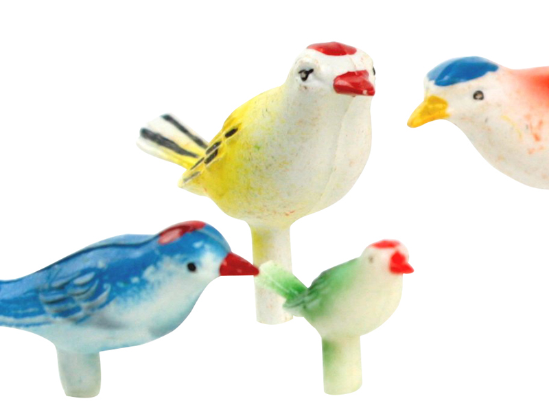 Vintage Colorful  Song Birds - German Imports - IV3-3512