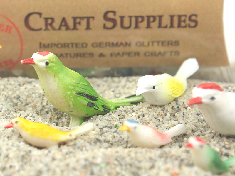 Vintage Colorful Song Birds - German Imports - 24 Pcs - IV3-3512