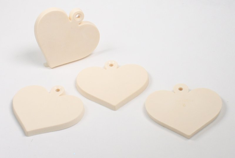 "Cutting Boards - Heart - 1"" - Set of 8 pcs - IV3-3607"
