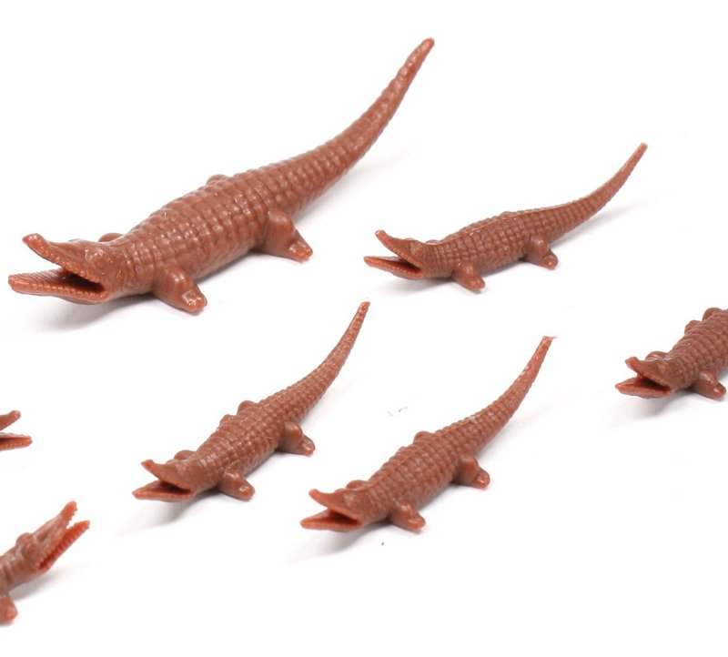 Alligator Set - Set of 12 - Dollhouse Minis - IV3-3620