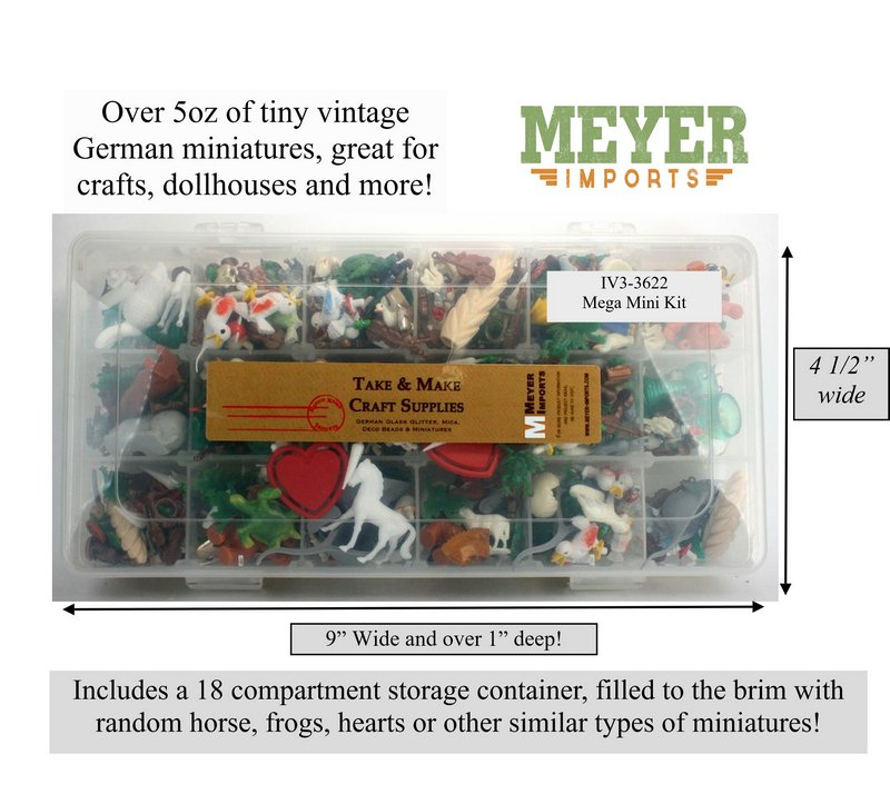 Mega Mini Vintage German Miniatures - 5+ oz per kit - IV3-3622