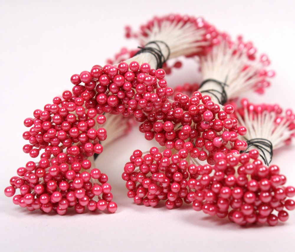 Mega Mix Pink Flower Stamens - 280 Pcs+ - IV3-3633