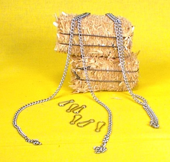 Cargo-To-Go: 1 Yard Nickle Plated Chain w/ hooks - 101-0813