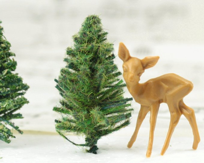 "Forest Trees  - Under 2"" Tall - 10 Pcs Set (218-0200)"