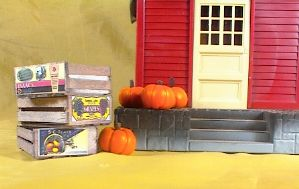 Cargo-To-Go: Vintage Fruit Crates and Pumpkin Set - 101-0914