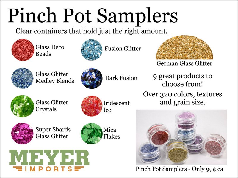 * Pinch Pots - Glitter Medleys (312-2009)