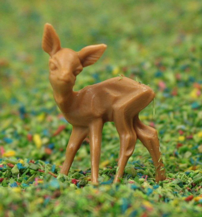 "Deer - 1"" Tall - 6 Pcs Set - 203-3-1227"