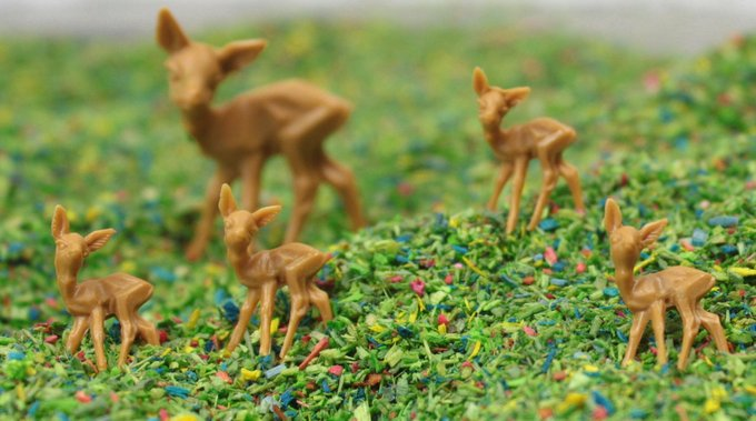 "Deer - 1/2"" Tall - 10 Pcs Set - 203-1005"
