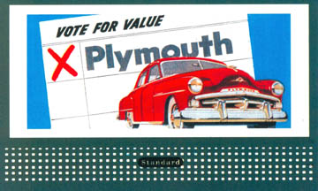 Retro Billboard Cards - Plymouths (402-3002)