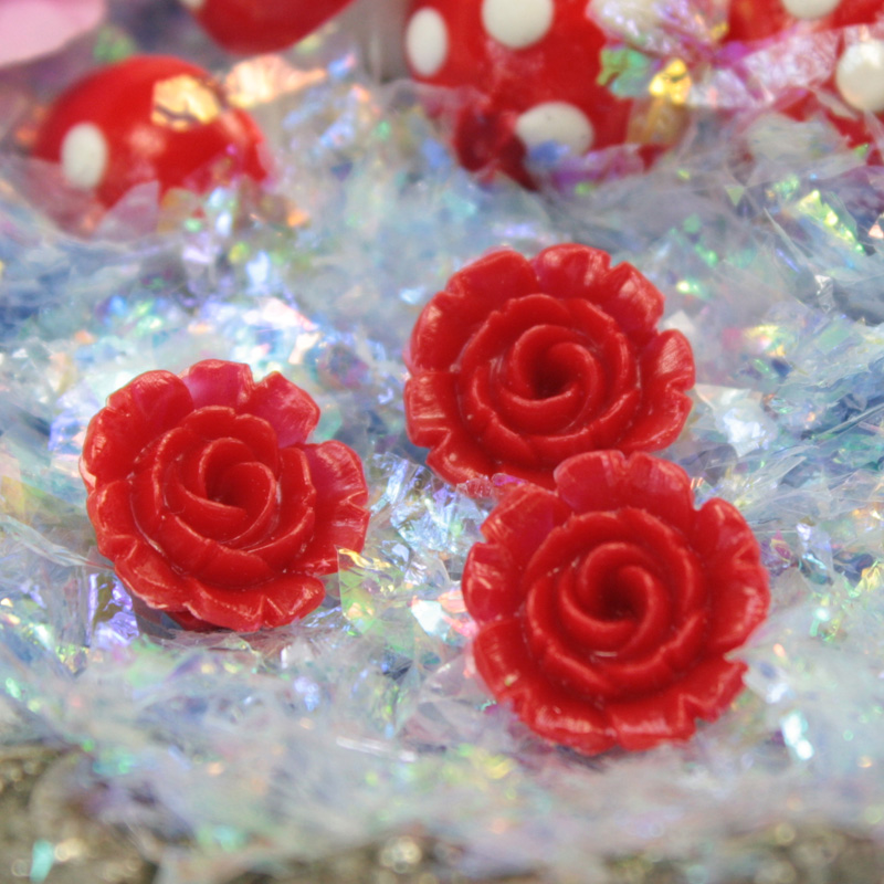 Red Carnation Flower (Set of 6) - 203-4-1203