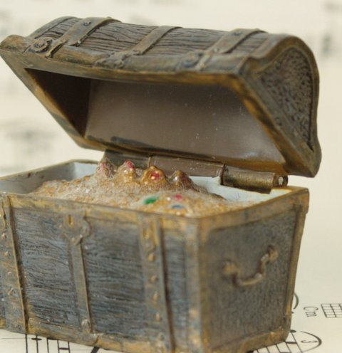 "1.5"" Treasure Chest for Western Scenes - G SCALE - #285-1829"