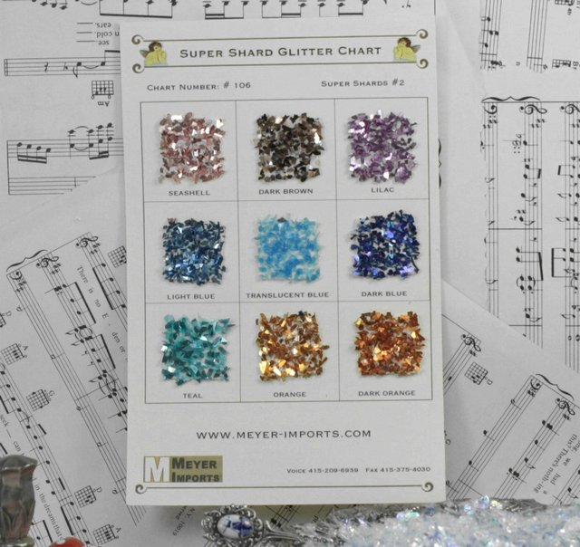 Sample Cards - Bright and Shiny Super Shards - 106