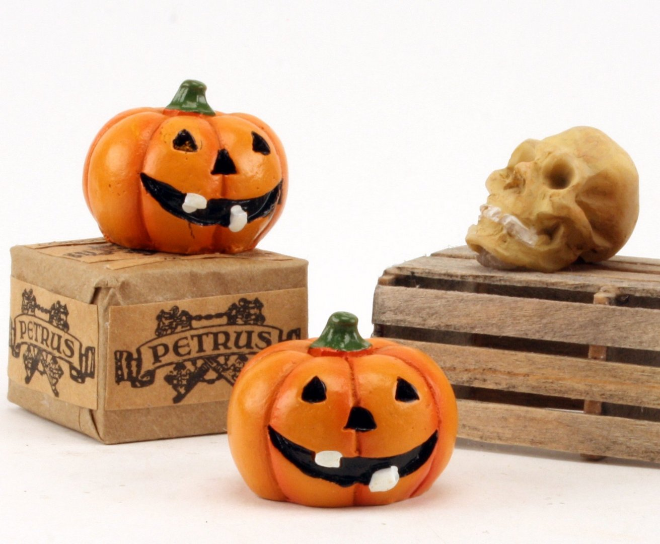 "Jack-O-Lantern Pumpkins- 1"" Dia. - Set of 3 - XC-1208"