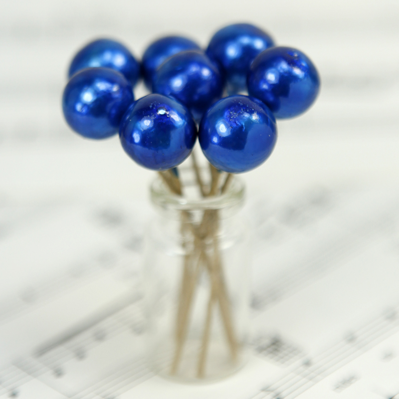 Floral Flourish - Blue Metalic Spheres - 20 pcs - 218-0153