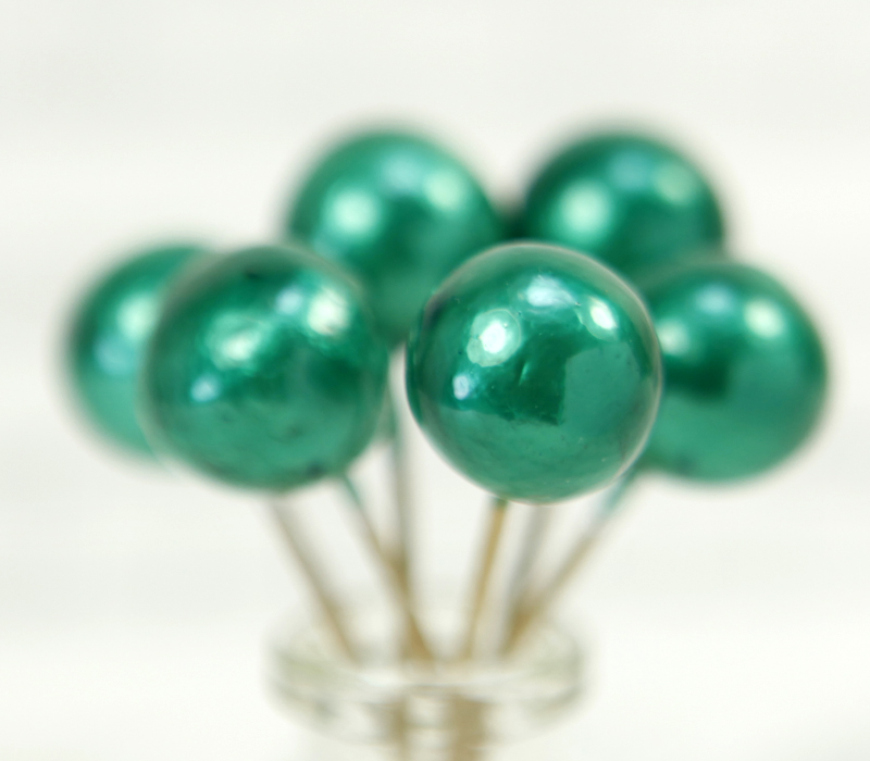 Floral Flourish - Green Metalic Spheres - 20 pcs - 218-0154